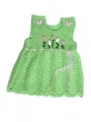 Megzta suknelė mergaitėms (1 - 1,5 metai)