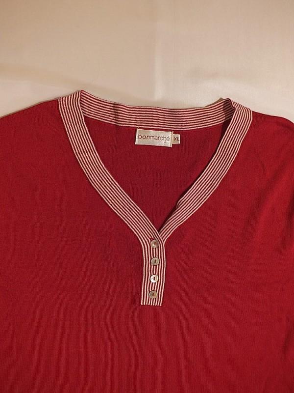 Raudonas plonas megztukas moterims (XL)