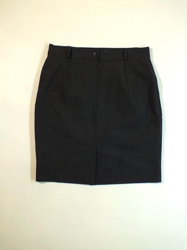 Šiltas pilkas sijonas su vilna (M-L)