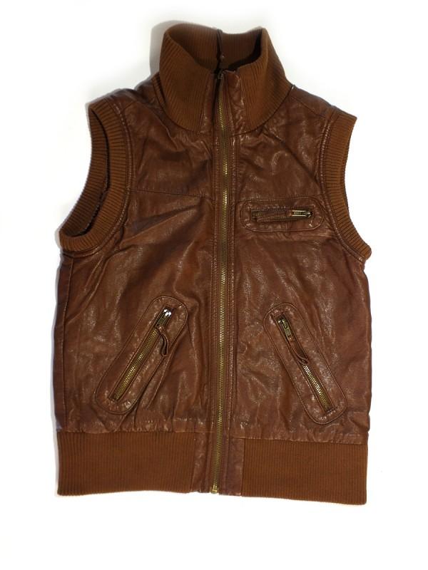 Takko-fashion odinė liemenė moterims (S)