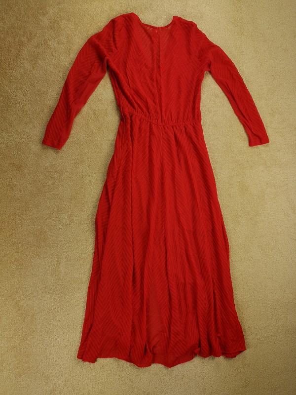 H&M puošni raudona suknelė moterims (S-M)