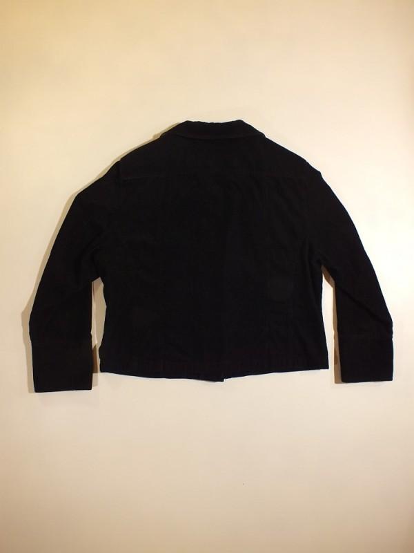 Juodas medvilninis moteriškas švarkas (L)