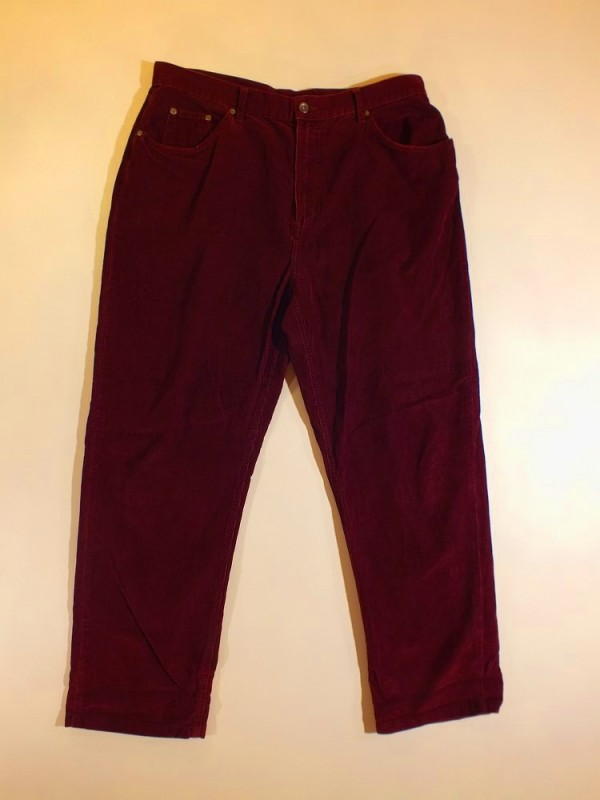 Nextjeans bordinės velvetinės kelnės (L)